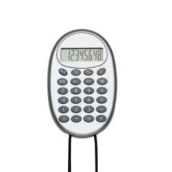 Calculadora de plástico com cordão